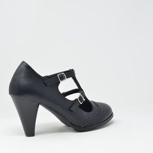 Chase + Chloe Shoes - ⭐️ Women's Black Double-Strap Mary Jane Pump Heels